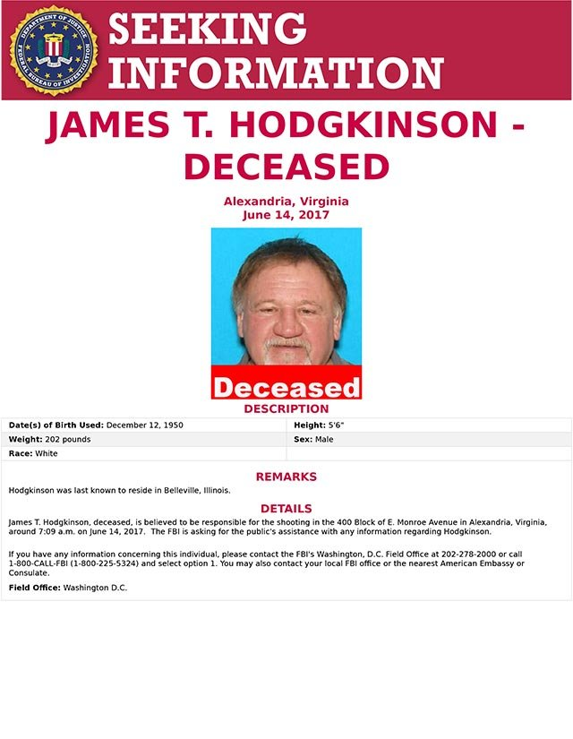 Complete flier from the FBI regarding Hodgkinson (Credit: KMOV)