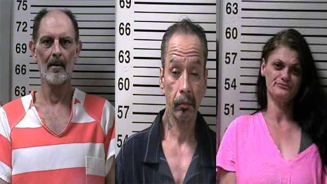 Police have charged three people in connection to a methamphetamine bust in an Alton home. (Credit: Alton Police Department)