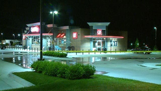 Police investigating an armed robbery at an Ellisville QuikTrip (Credit: KMOV)