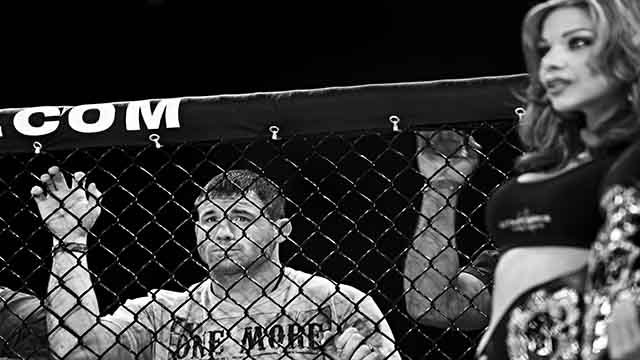 FAIRFAX, VA - FEBRUARY 21: Former UFC welterweight champion Matt Hughes corners Justin Robbins as he fights at Man 'O' War Extreme Cage Fighting at the George Mason University Patriot Center in Fairfax, Virginia on February 21, 2009. (Photo by David S. Ho