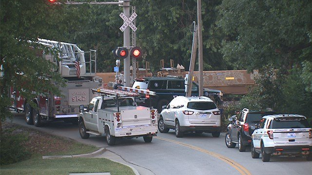 Police are investigating a crash involving a train and pedestrian in St. Charles County. (Credit: KMOV)