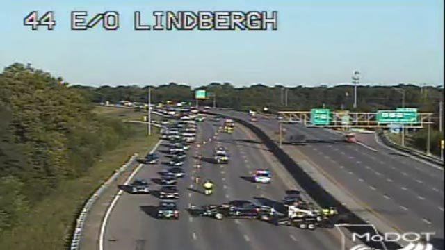 3 lanes of EB I-44 east of Lindbergh closed Monday (Credit: MoDOT)