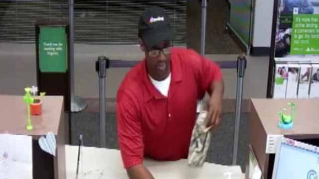 Police believe this man robbed a Regions Bank in St. Charles Monday. Credit:  CrimeStoppers.