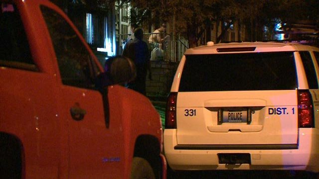 Police in the 4000 block of Burgen after a shooting Tuesday (Credit: KMOV)