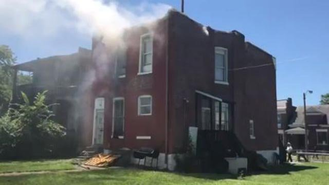 Fire at a home in the 4700 block of Newcomb Place Tuesday (Credit: St. Louis Fire Department)