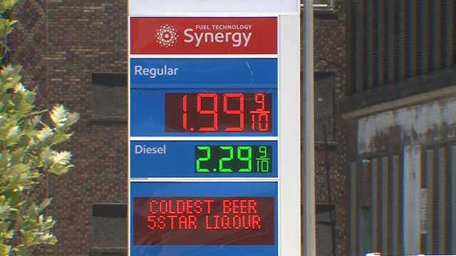 Gas prices at several service stations in the St. Louis area are around or under $2. Credit: KMOV