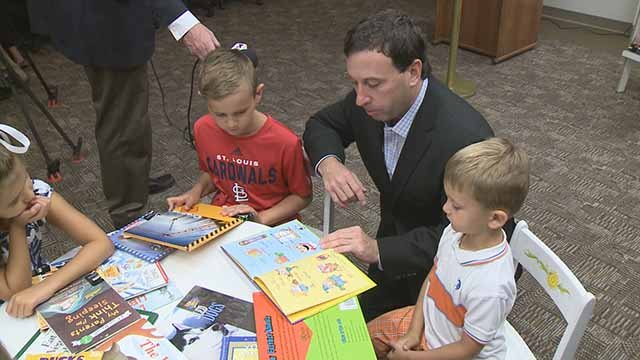 The St. Louis County literacy program kicked off in Clayton Wednesday. Credit: KMOV