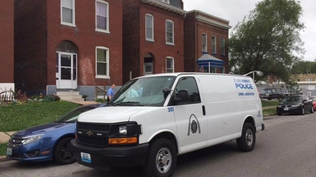 Investigators in the 3300 block of Oregon after a 2-month-old was found dead Thursday (Credit: Nick Zervos / News 4)