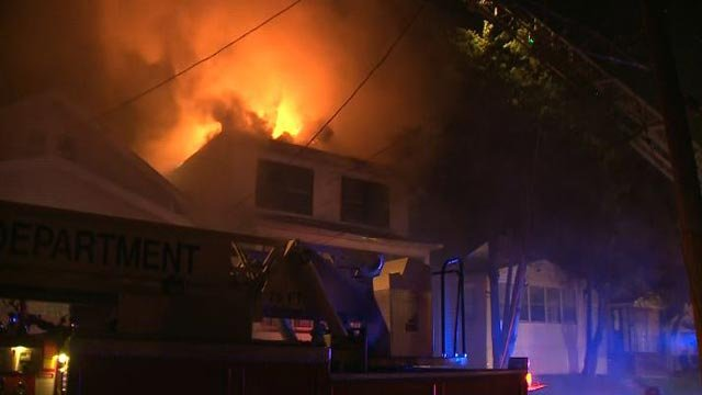 A home in the 3900 block of Shriller Place caught fire early Friday morning (Credit: KMOV)