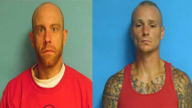 Charles Branson and David McCrocklin, both 31, are charged with first-degree robbery and first-degree burglary. Credit: Union PD