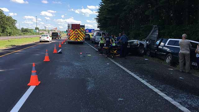 1 person died and three were injured in a wreck on SB Highway 67 near Farmington Tuesday afternoon. Credit: MHP