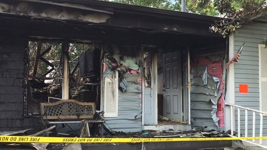 O'Fallon, Missouri house damaged in Wednesday night fire (Credit: KMOV)