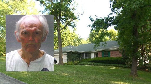 Robert Britt is accused of fatally stabbing his wife in Ladue Monday (credit: Police / KMOV)