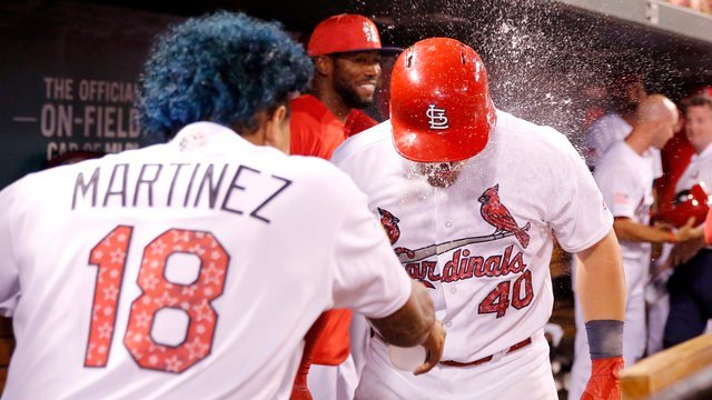 Voit Drives in 4 Runs, Cardinals Beat Marlins 14