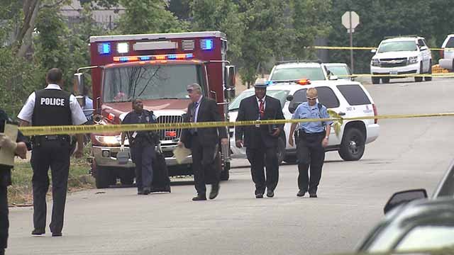 A male victim was fatally shot in near the intersection of Cole and 17th on July 4. Credit: KMOV