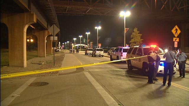 Three people were shot early Wednesday morning at Leonor K. Sullivan near the Martin Luther King Bridge (Credit: KMOV)