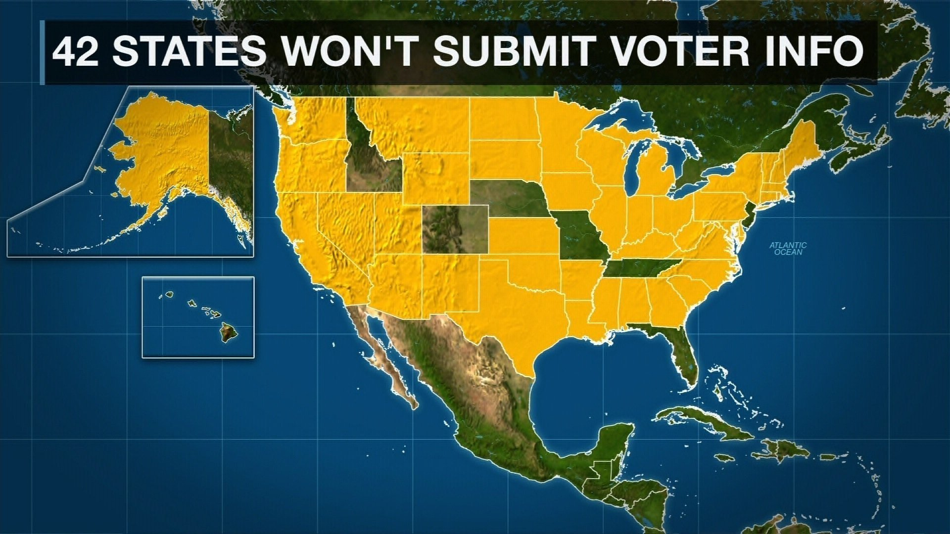 Forty-one states have defied the Trump administration's request for private voter information, according to a CNN inquiry to all 50 states.