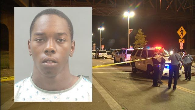 Tyler Deboise is accused of fatally shooting Ivory Newbern near the riverfront in St. Louis Wednesday (Credit: KMOV)