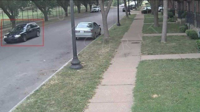 Homicide detectives are asking for the public's assistance to identify a suspect vehicle. (Credit: St. Louis Metropolitan Police Department )