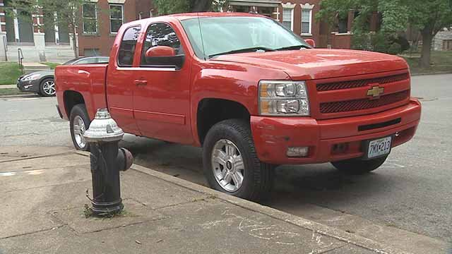 Cars parking in front of fire hydrants has been a hurdle for firefighters in St. Louis City. Credit: KMOV