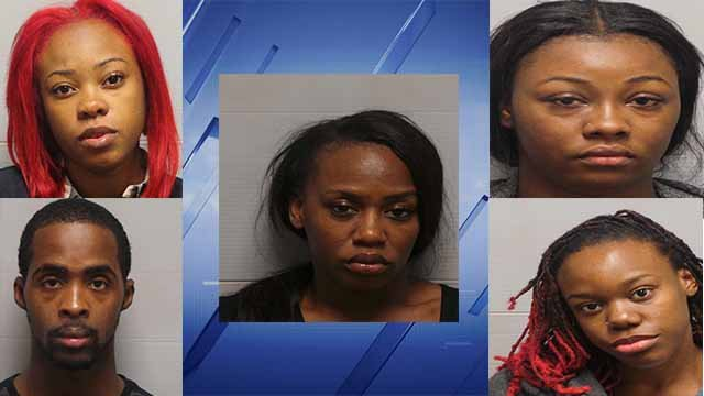 Five suspects are in custody after being accused of burglarizing the Champs Sports store located in Alton Square Mall. (Credit: KMOV)