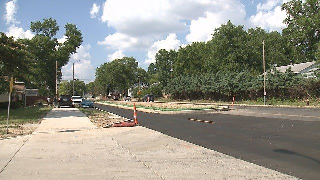 Residents in the Lindenwood Park neighberhoof say a newly renovated stretch of Wabash Avenue is doing more harm than good. (Credit: KMOV)