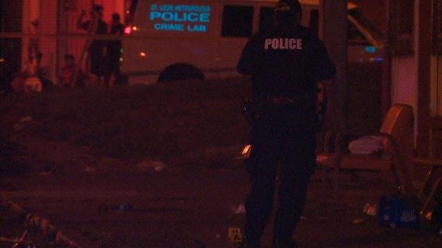 Investigators in the area of Cote Brilliante & Hamilton Thursday (Credit: KMOV)