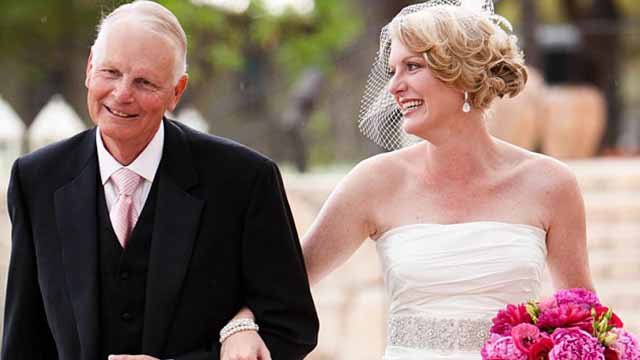 Meghan and her dad at her wedding in March, 2011 (Family photo)