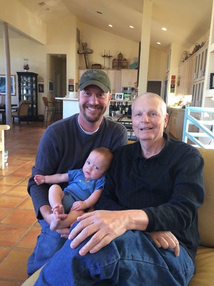 Meghan's father with his son and grandson in 2013 (Family Photo)