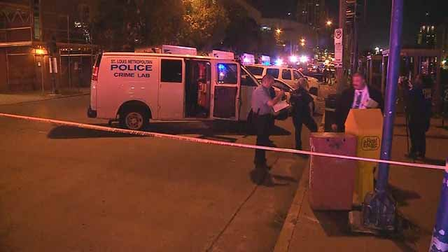 1 victim was killed and 1 victim was wounded in a shooting near the Union Station MetroLink stop. Credit: KMOV