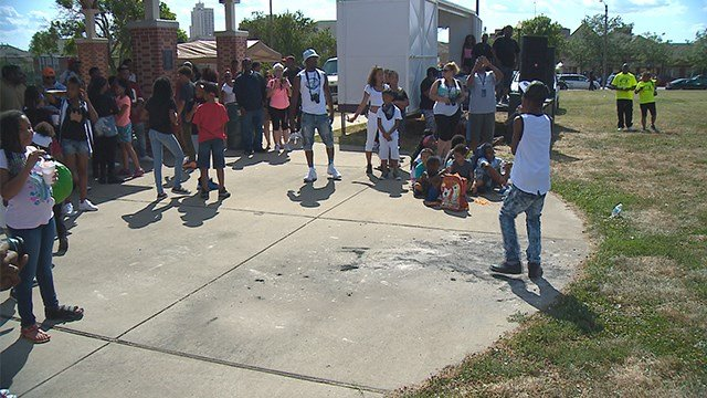 An event was held in north St. Louis Saturday afternoon in an effort to promote positive opportunities for young people.(Credit: KMOV)