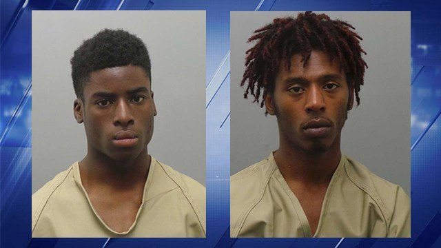 Dontae Rockett, 17, and Damius McPhearson, 17, arrested after robbery overnight. (Credit: KMOV)