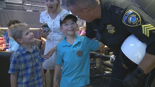 Cole Hittler, 7, get's big surprise after no one showed up for his birthday party. (Credit: KMOV)