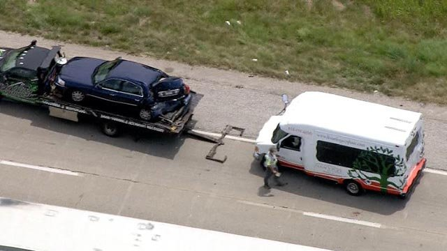 A bus carrying senior citizens was involved in a crash in Dupo Monday (Credit: KMOV)