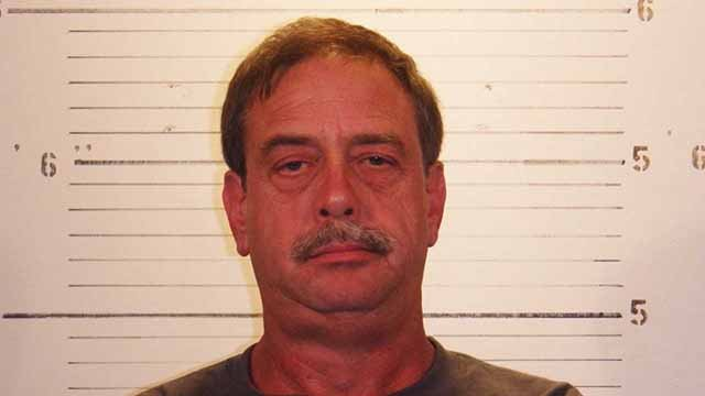 Kevin Helfrich, 54, was allegedly driving a truck the the wrong way down Illinois Route 15 and got into an accident, killing John Bannister, 37, and Daryl Harton, 36. Credit: St. Clair County Sheriff