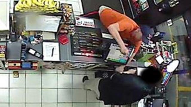 Surveillance photo of 7-Eleven robbery suspect (Credit: St. Louis County Police Department)