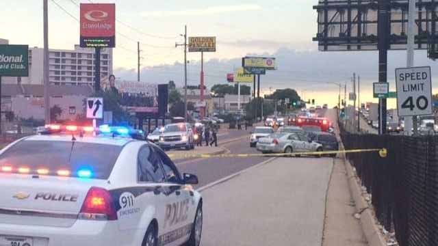 A police officer was involved an accident near Lambert Airport Thursday evening. Credit: KMOV