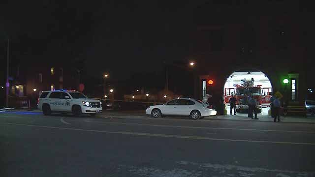A male and female victim were shot in the 8200 block of South Broadway Thursday night. Credit; KMOV