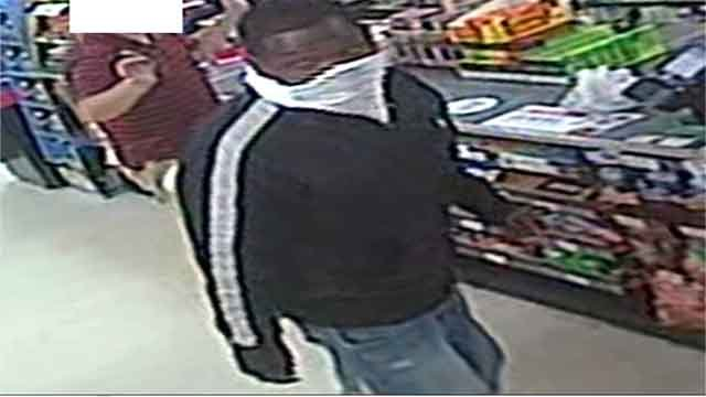 Police are searching for this man who allegedly robbed a 7-11 store in Maplewood on Friday, July 7, 2017 (Credit: Maplewood Police Department)