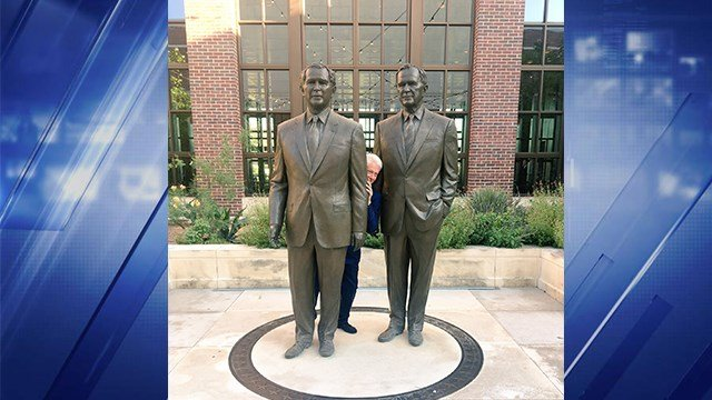When he visited the George W. Bush Presidential Center for a public event, Clinton's press secretary Angel Urena snapped a photo of the former President that quickly went viral. (CNN)