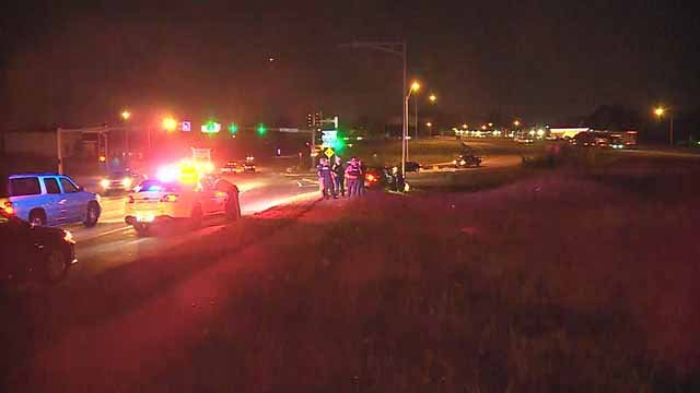 Police said the chase started in North City and ended after a crash  near Jennings Station Road and I-70. Credit: KMOV