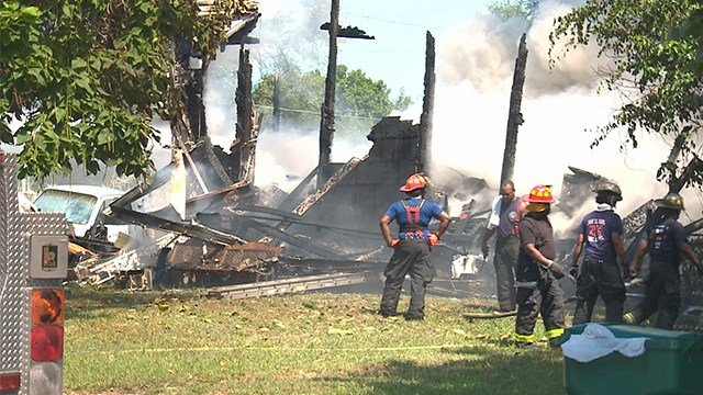 A man is looking for a new place to live after a fire destroyed his home in East St. Louis Saturday afternoon. (Credit: KMOV)