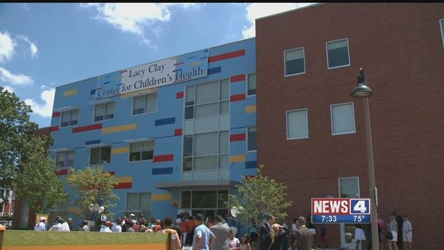 Missouri Congressman Lacy Clay helped dedicate this resource center for children on Saturday, July 15, 2017 (Credit: KMOV)