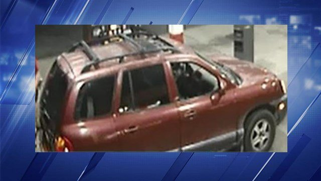 Officials are looking for a Burgundy Hyundai Santa Fe and it's owner. (Credit: Major Case Squad of Greater St. Louis)