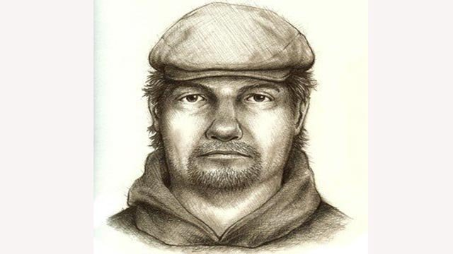 Police have now released this sketch to help in the search. (Credit: Indiana State Police)