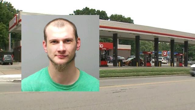 Gary Shelton allegedly locked himself in the bathroom at a St. Charles QuikTrip Sunday (Credit: St. Charles Police)