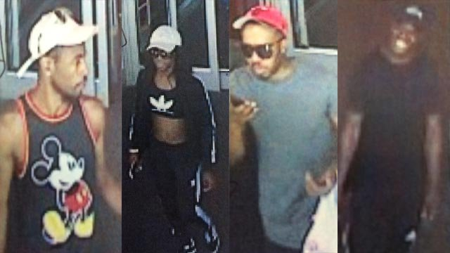 Four suspects are sought after stolen credit cards were used a Town and Country store on July 8 (Credit: Town and Country Police)