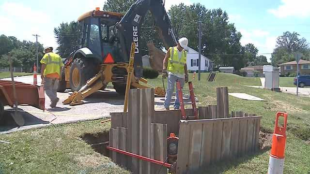 Missouri American Water says heat takes a toll on water mains. Credit: KMOV