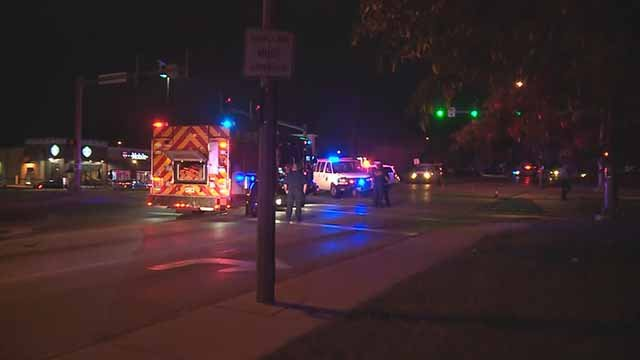 A St. Louis City police officer was involved in an accident while responding to an aid call in south St. Louis Tuesday. Credit: KMOV