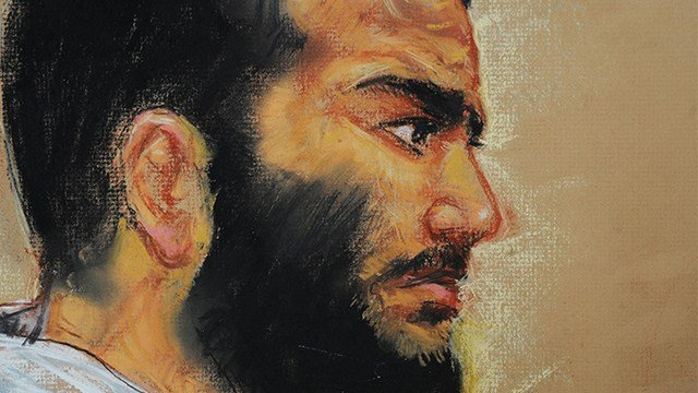 Canadian-born accused terrorist Omar Khadr. (AP Photo/Janet Hamlin, Pool, File)